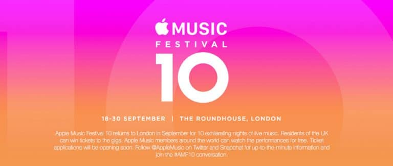Apple anuncia el «Apple Music Festival 2016» de Londres