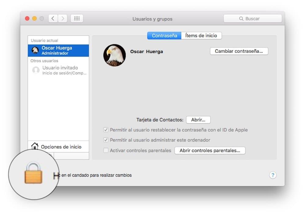 Sesion de usuario invitado Mac-Howpple