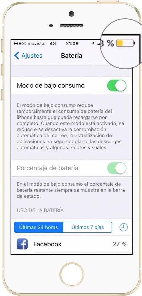 iOS icono modo bajo consumo-Howpple