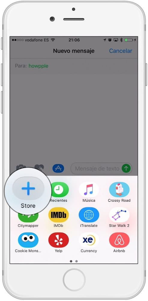 App Mensajes de Apple Store-Howpple