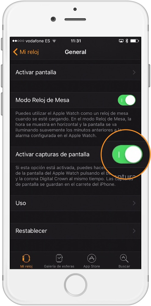 Capturas de pantalla en Apple Watch con watchOS 3 Activar-howpple