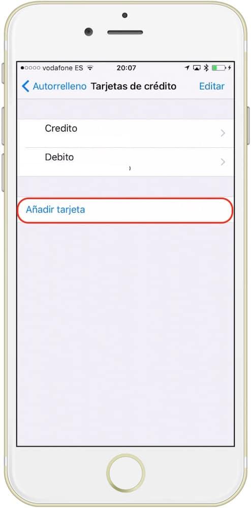 guardar tarjeta iCloud añadir tarjeta-howpple