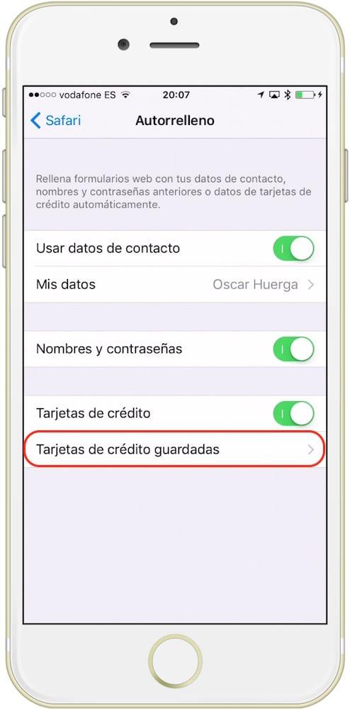 guardar tarjeta icloud tarjetas-howpple