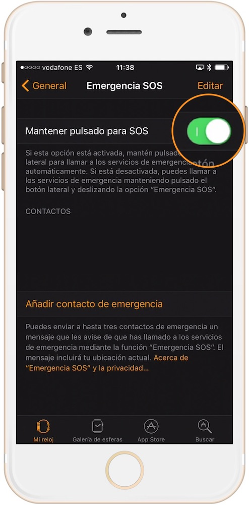 Llamada Emergencia SOS Apple Watch-howpple
