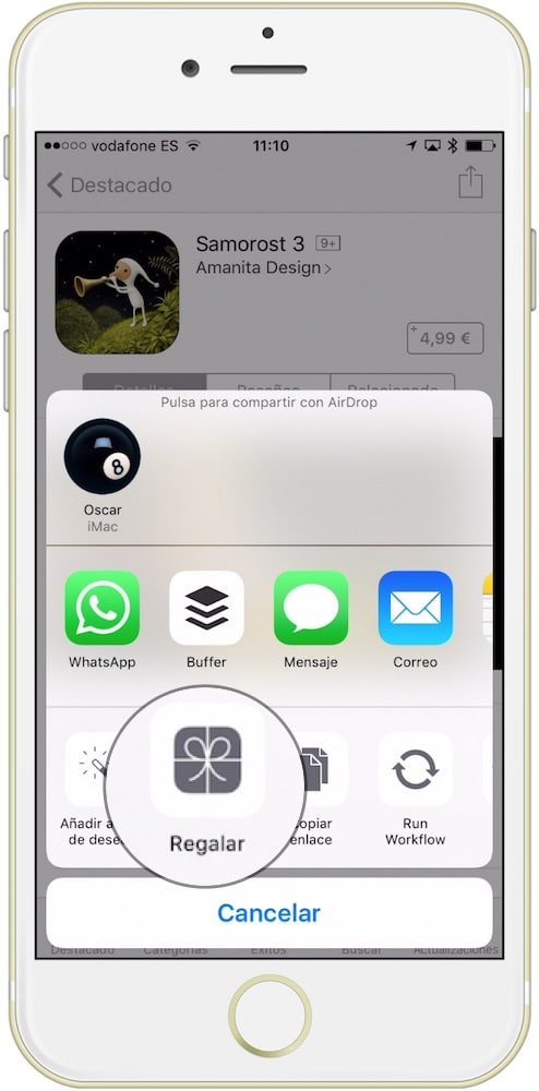 regalar una aplicación iOS boton regalar-Howpple