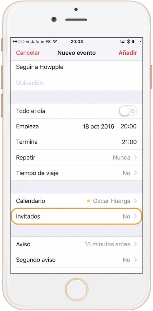 como compartir eventos del calendario invitados-howpple