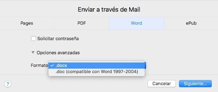 Compartir documento Pages como Word-Howpple