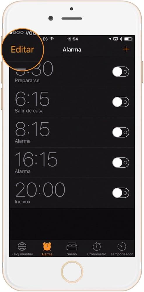 Editar despertador-Howpple