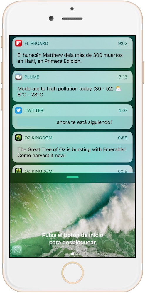 Trucos iPhone 7 acceso Notificaciones-Howpple