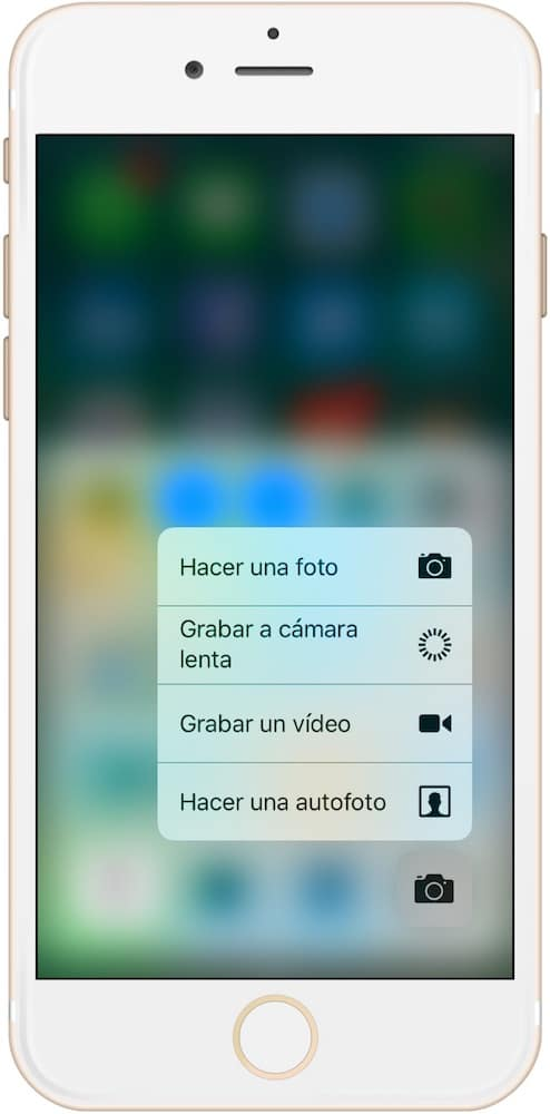 Trucos iPhone 7 y iOS 10 3D Touch Cámara-Howpple