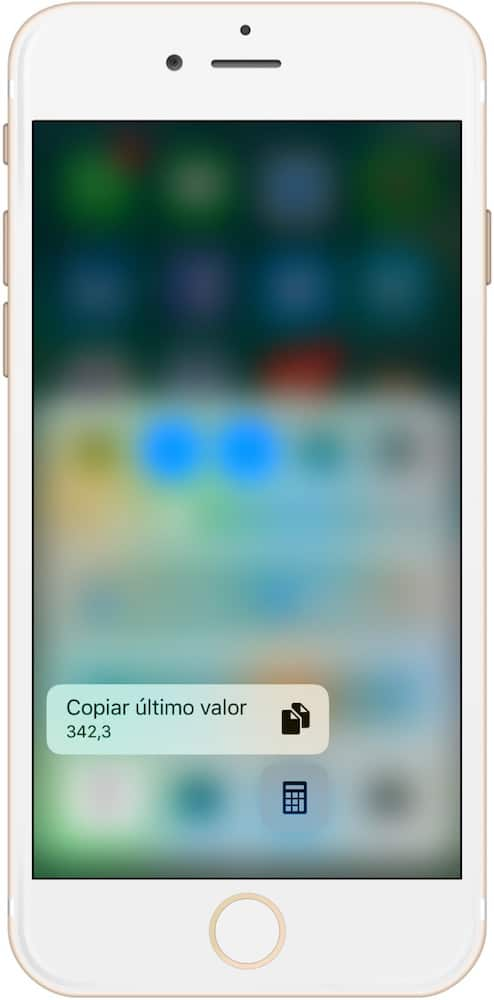 Trucos iPhone 7 y iOS 10 3D Touch Calculadora-Howpple