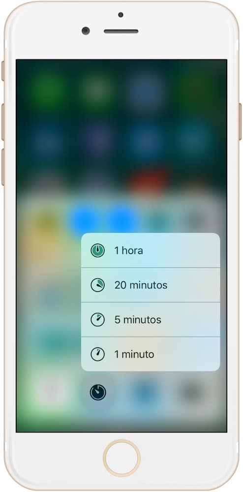 Trucos iPhone 7 y iOS 10 3D Touch Cronometro-Howpple