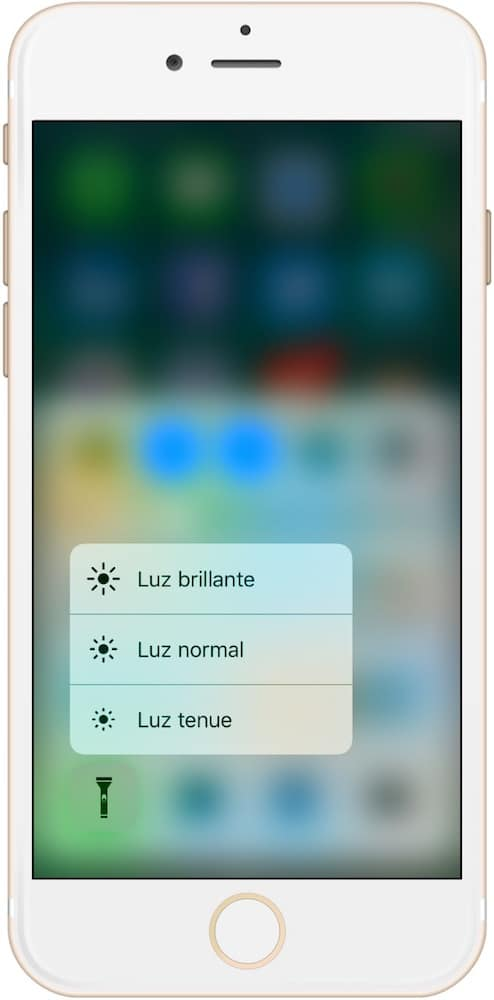 Trucos iPhone 7 y iOS 10 3D Touch Linterna-Howpple