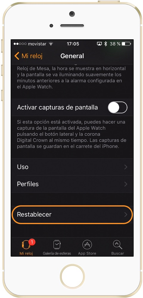 Como desenlazar el Apple Watch Restablecer-Howpple