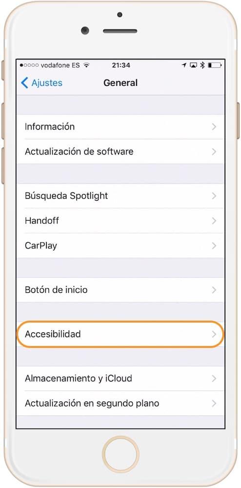 Encender y apagar iPhone Accesibilidad-Howpple