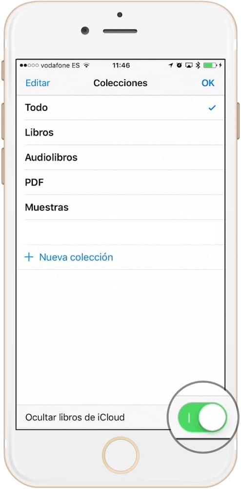 Ocultar libros en iBooks activar ocultar-Howpple