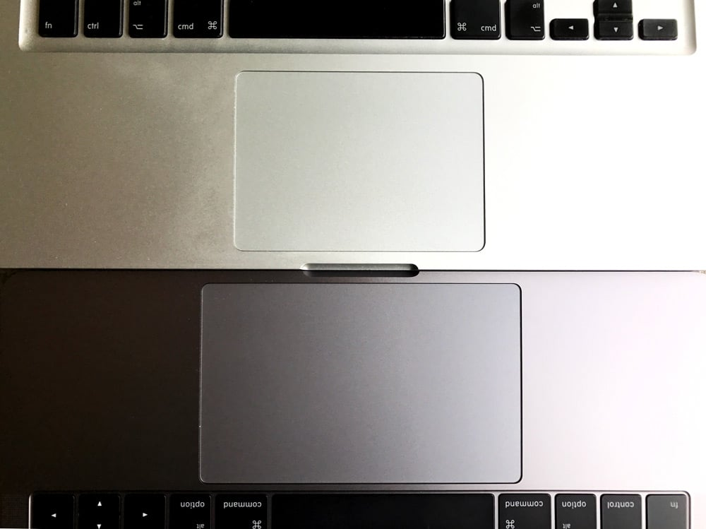 Comparación Trackpad MacBook Pro 2016 VS 2013-Howpple