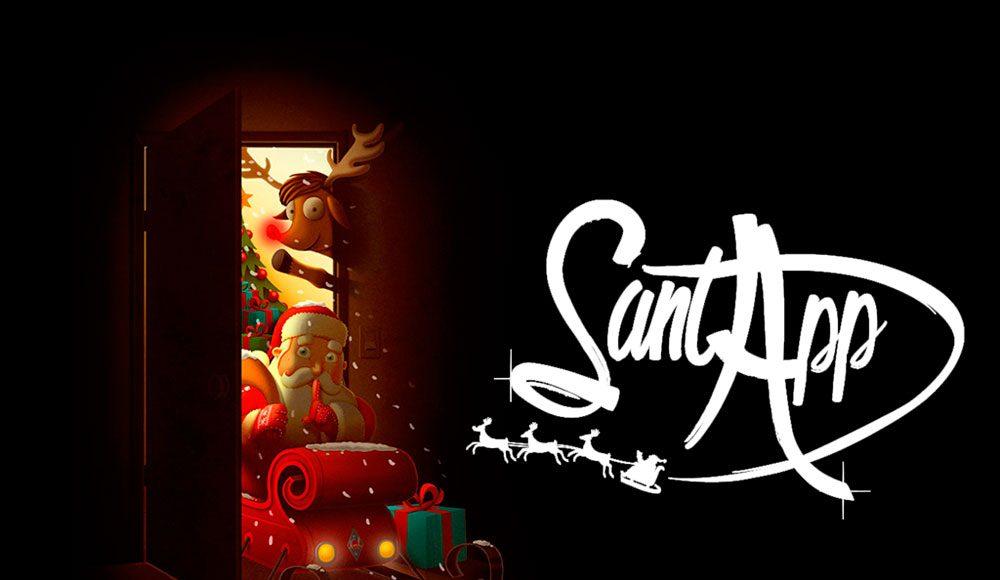 Aplicación iOS para niños y navidad SantApp