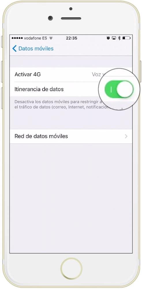 Como activar los datos en el extranjero en iPhone para usar la itineraria