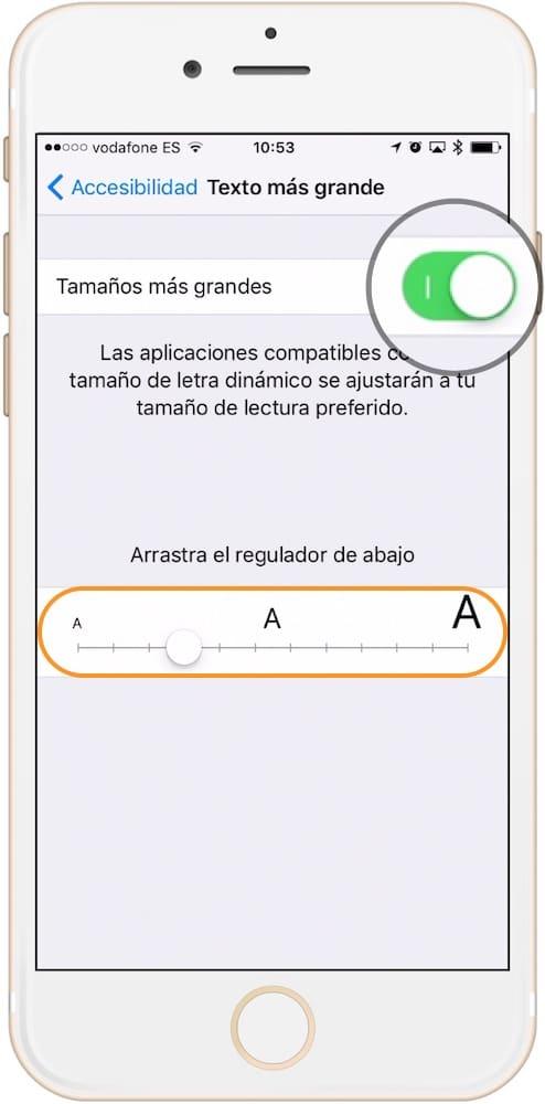 Como aumentar el tamaño de la letra en iPhone aumentar tamaño al máximo