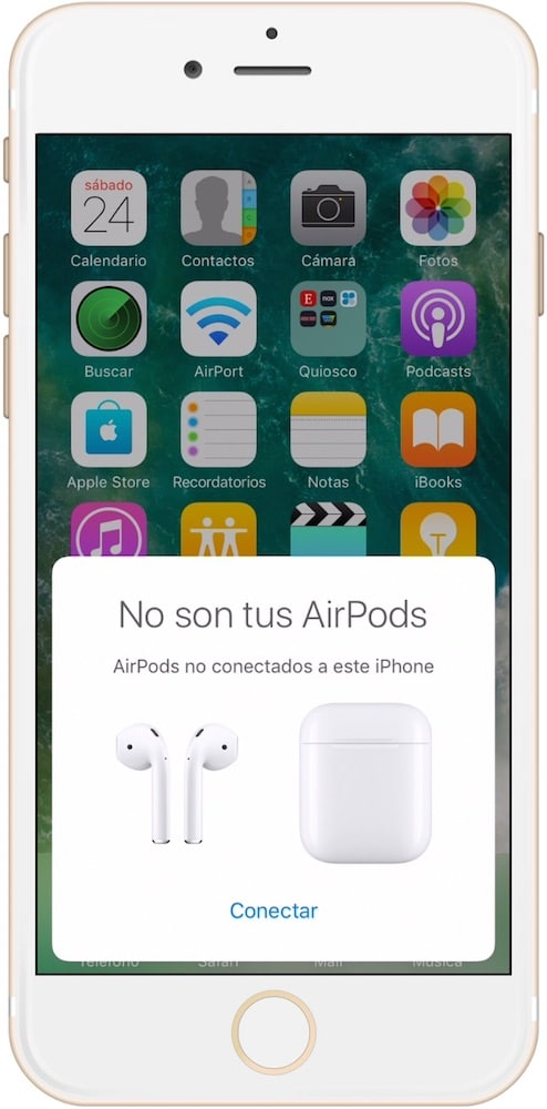 Conexión AirPods de Apple con iPhone