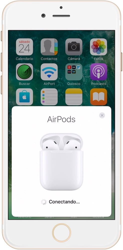 Conectando AirPods de Apple con iPhone