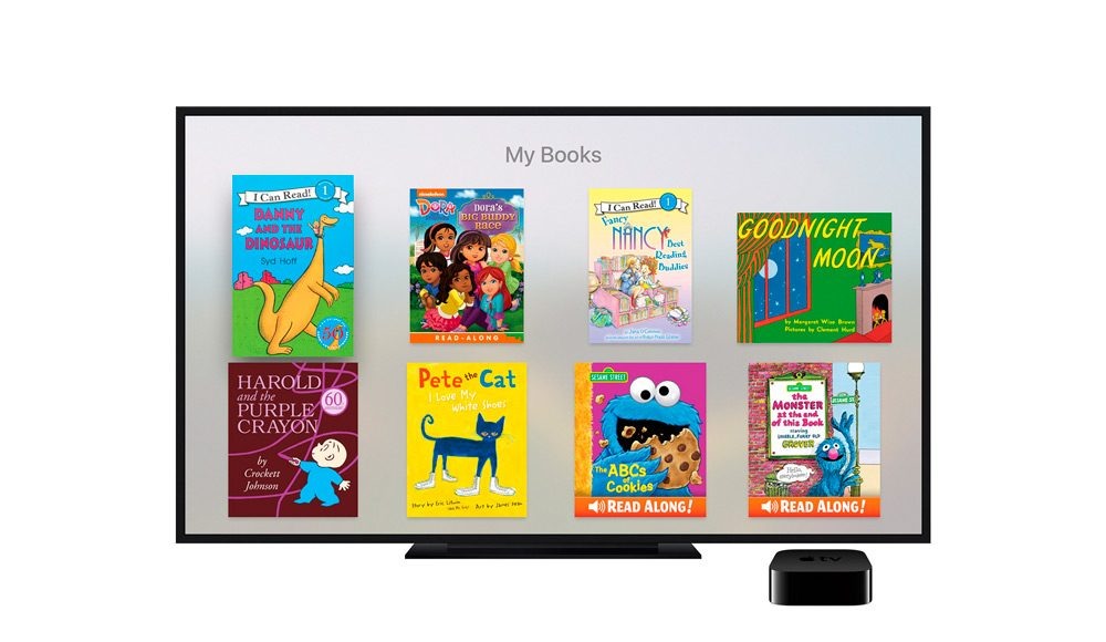 Aplicación de cuentos interactivos para Apple TV iBooks StoryTime