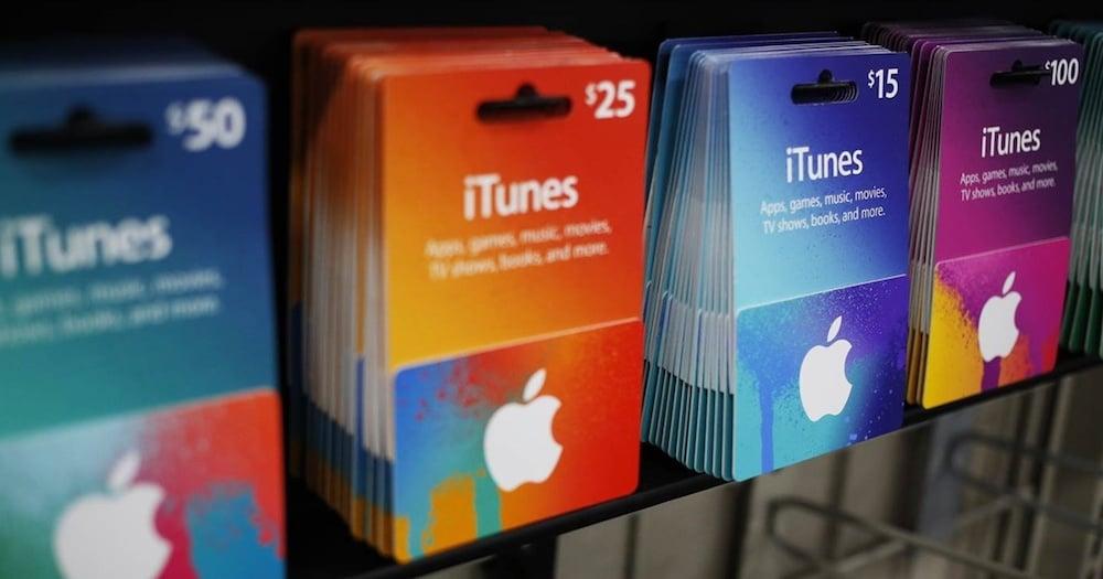 Estafas con las Tarjeta regalo iTunes