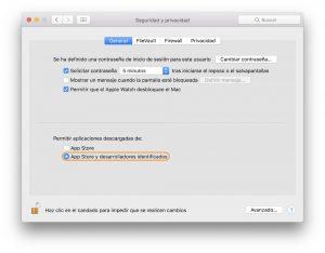 Usar WhatsApp en Mac Ajustes de macOS permitir apps
