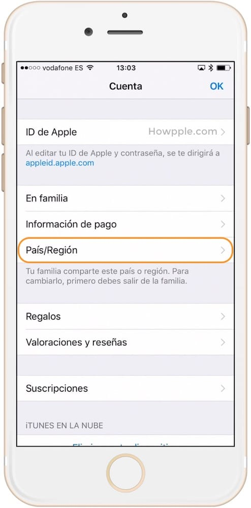 Aprende como cambiar el país del App Store seleccionando el país o región