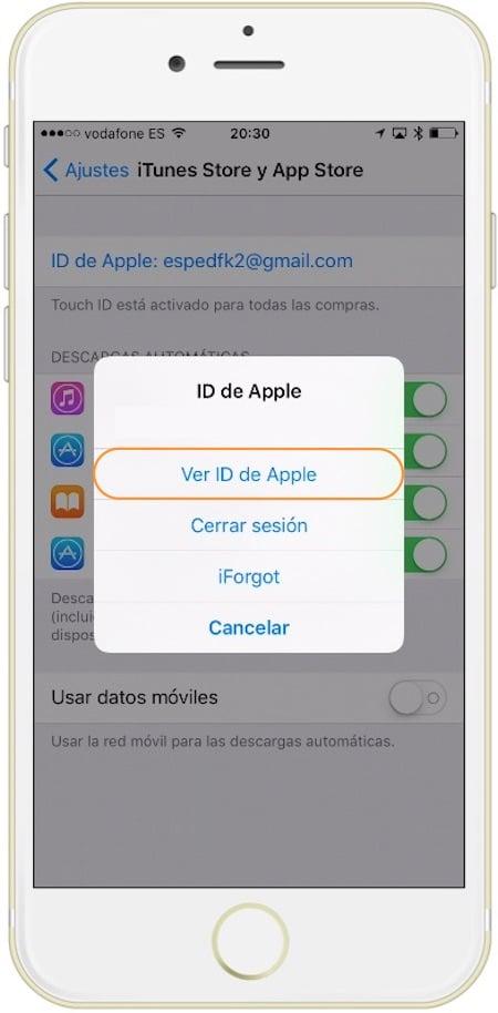 Como cancelar una suscripción ver ID de Apple