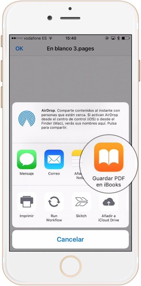 Aprende como guardar como PDF cualquier documento o web para iOS