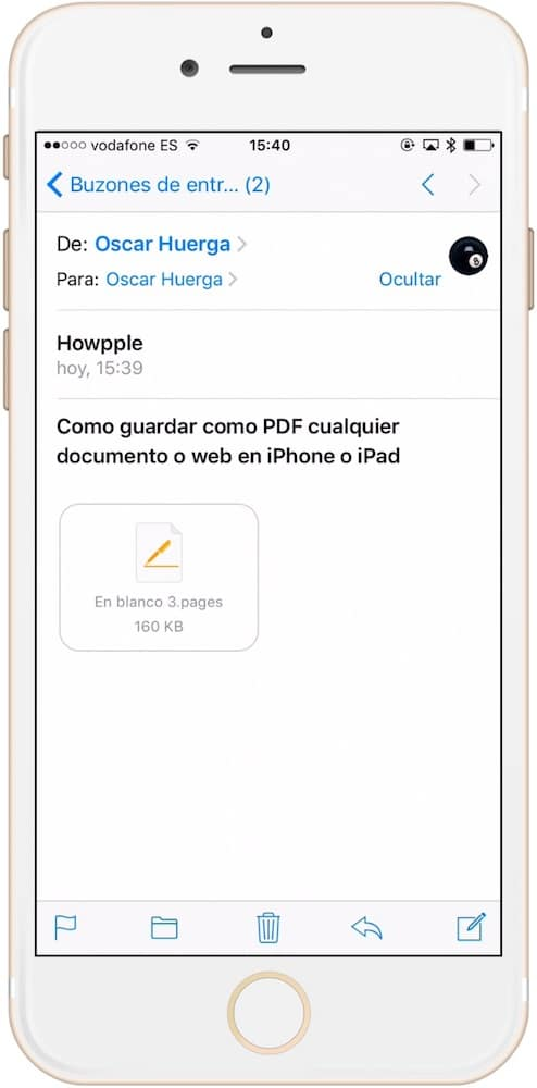 Aprende como guardar como PDF cualquier documento o web en iPhone y iPad