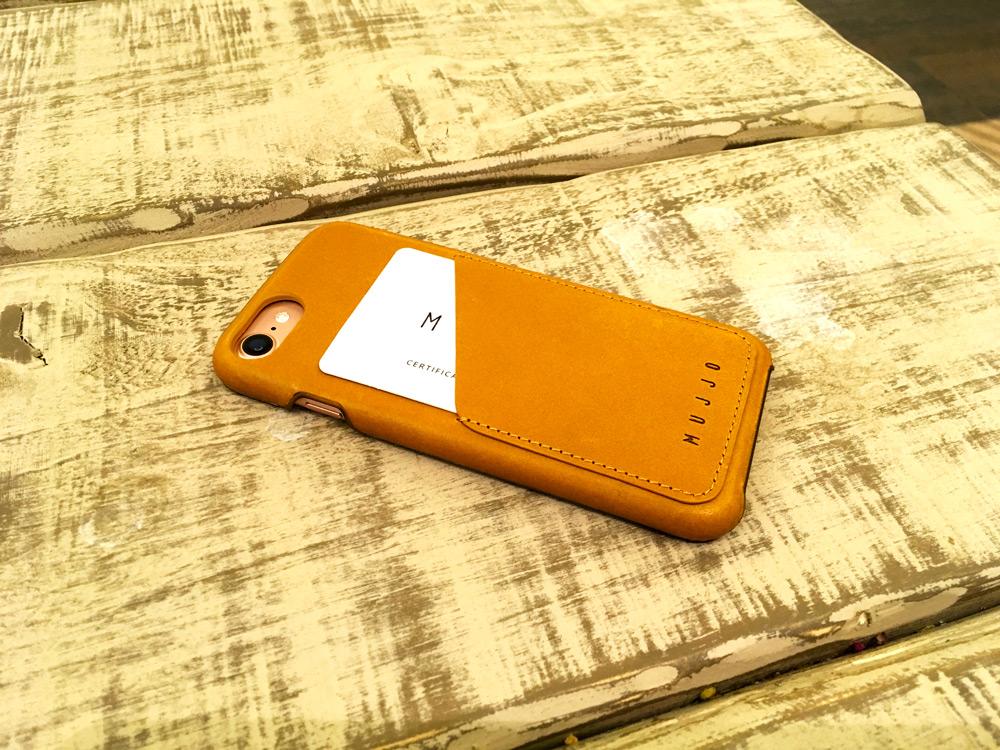 Primer plano de la funda para iPhone 7 de Mujji