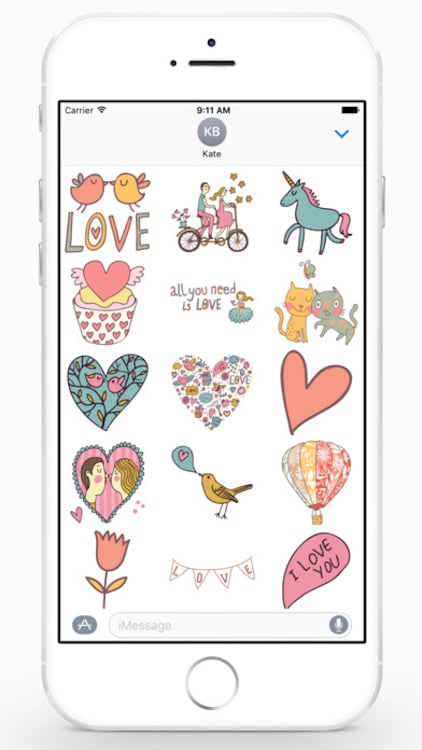 Apple se actualiza para San Valentin stickers 2