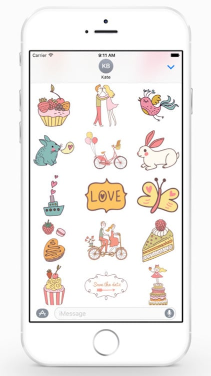 Apple se actualiza para San Valentin Stickers 4