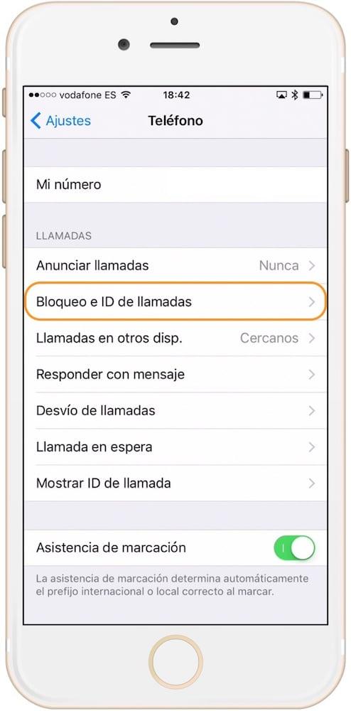 Bloquea un contacto en los ajustes de iPhone