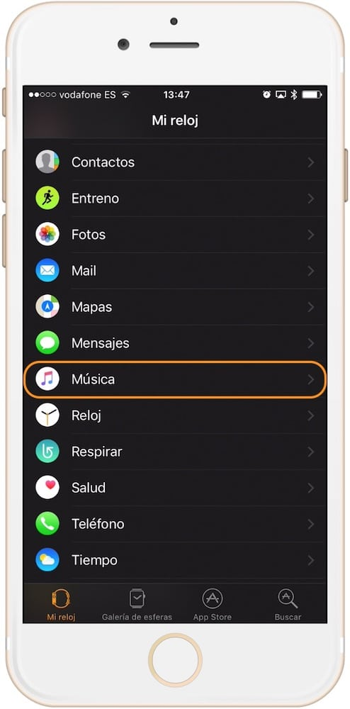 Aprende como conectar unos auriculares inalámbricos con el Apple Watch app música en iPhone