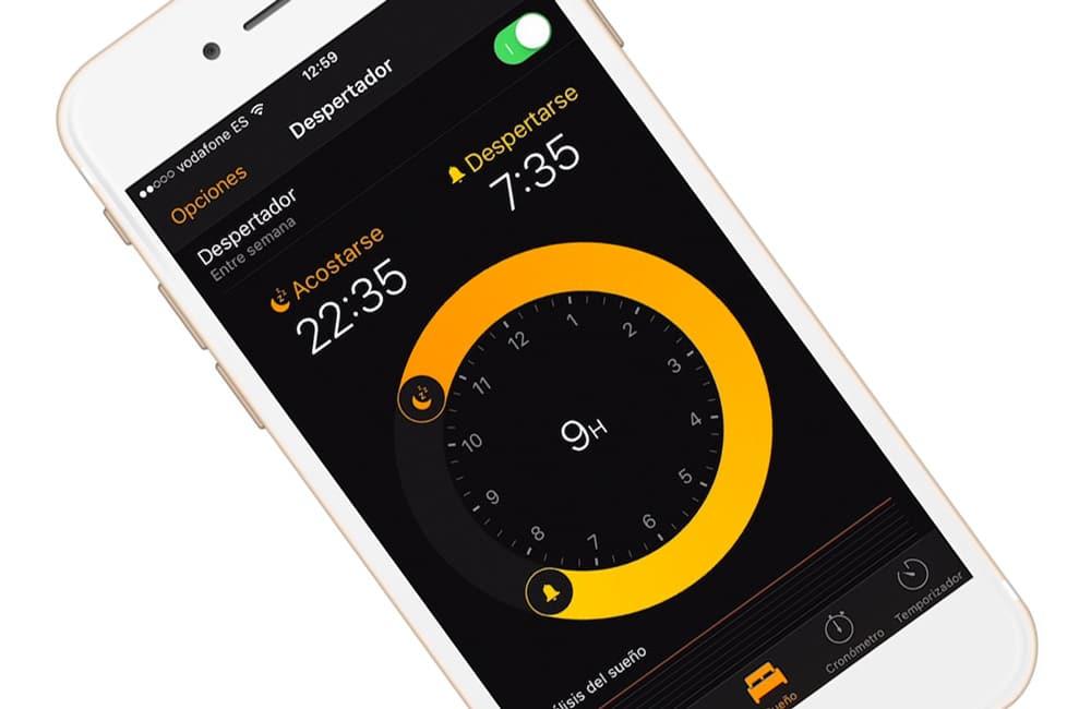 Dormir mejor con alarma sueño en iOS