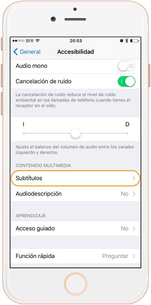 Como activar y personalizar los subtítulos en iPhone y iPad