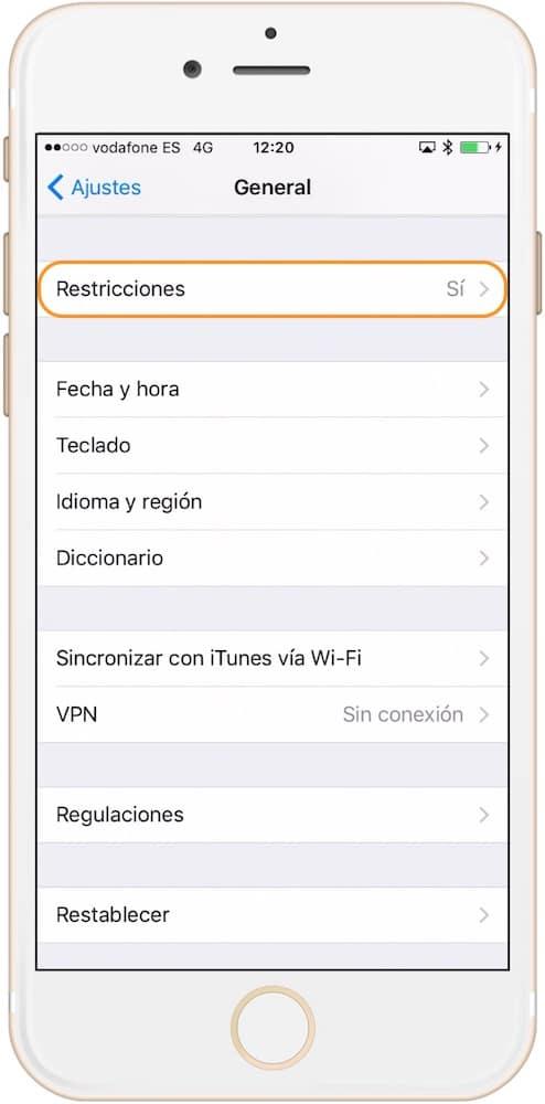 Aprende Como evitar las compras dentro de las aplicaciones en iPhone y iPad en la sección restricciones