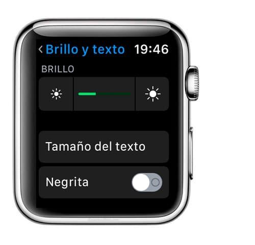 Aprende como cambiar el tamaño de la letra en Apple Watch con el menú ajustes