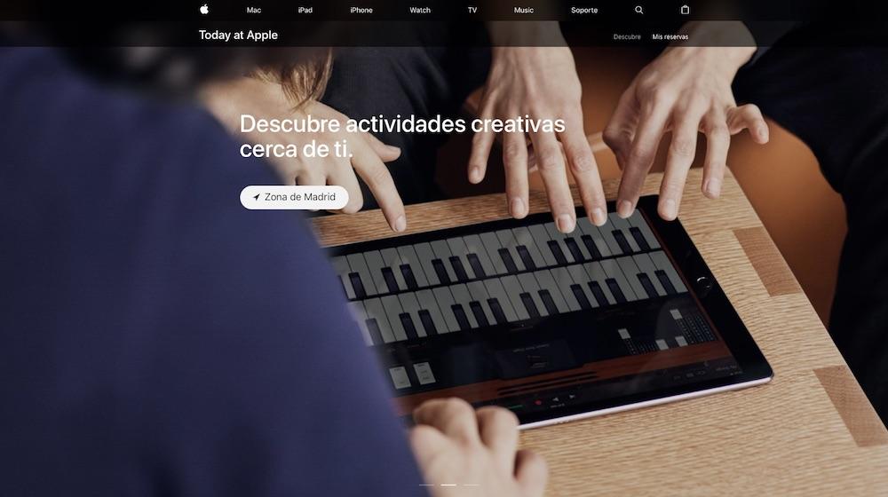 Como apuntarse a los cursos Today at Apple desde la web