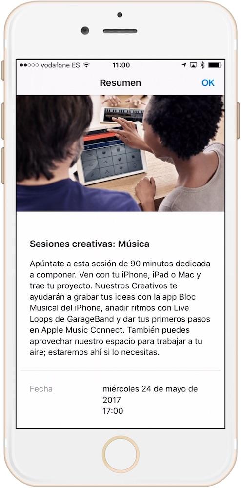 Curso seleccionado de Today at Apple