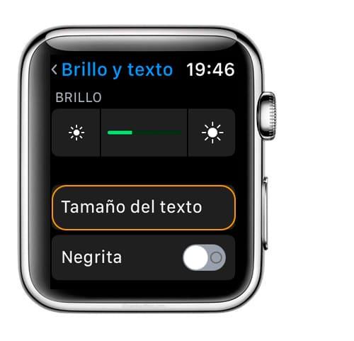 Aprende como aumentar el tamaño de la letra en Apple Watch