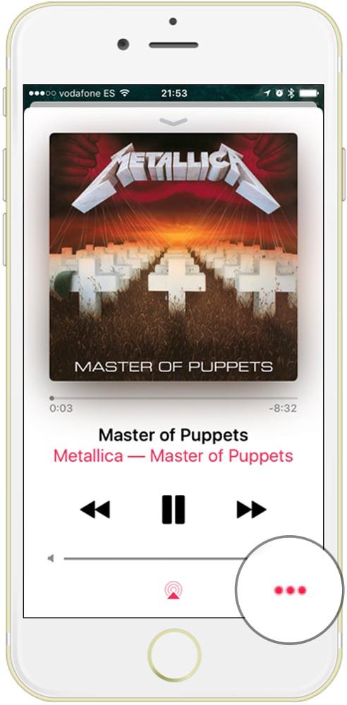 aprende que es el botón crear emisora de Apple Music