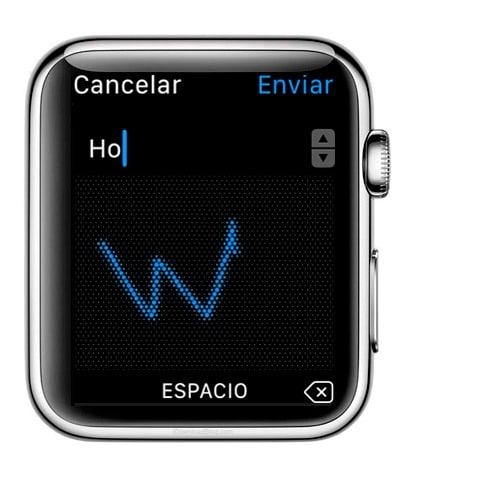 Escritura manual de los mensajes que enviemos en Apple Watch