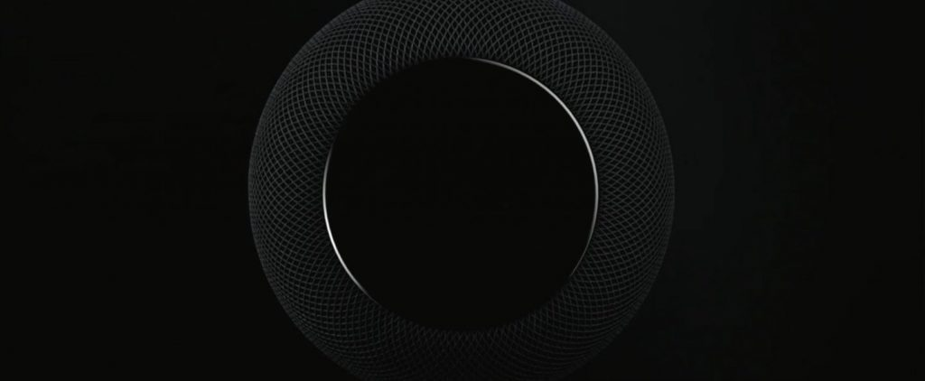 Detalle superior del Altavoz Apple HomePod