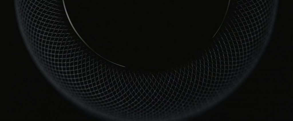 Otro detalle del Altavoz Apple HomePod
