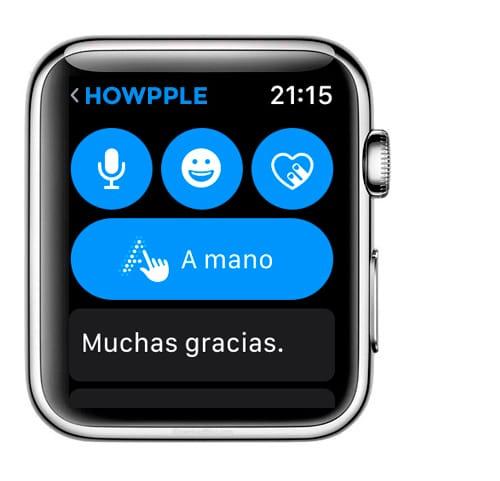 Tipo de mensajes en Apple Watch